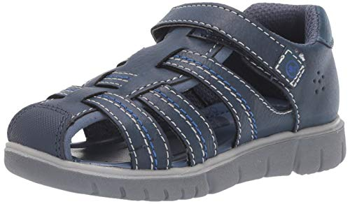Stride Rite boys Wallace Sandal , navy 12 W US Little Kid