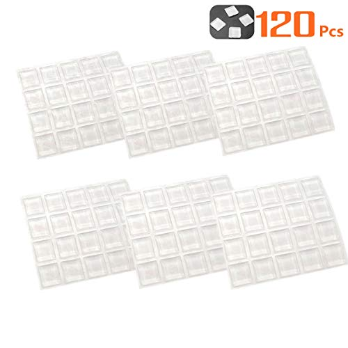 Cabinet Door Bumpers Pads Drawer Bumper Pads 120 Pcs Cabinet Stoppers Sound Dampening Clear Rubber Furniture Pads Feet for Table Tops Cutting Boards Picture Frames Self Stick Cabinet