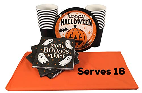 Happy Hour Halloween Party Plates Set with Cups,