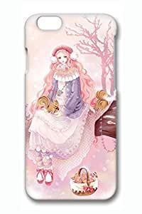 Anime Girl Winter Cute Hard For Iphone 6Plus 5.5Inch Case Cover Case PC 3D Cases