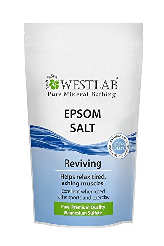 Westlab Epsom Salt Resealable Stand Up Pouch, 1er Pack (1 x 1 kg)