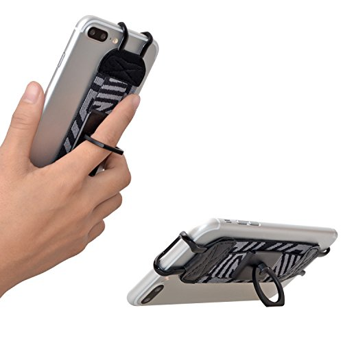 TFY Security Hand Strap with 360°Rotation Metal Ring Finger-Grip Holder & Stand for iPhone 6 Plus / iPhone 6s Plus / iPhone 7 Plus by TFY