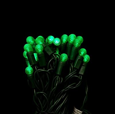 G12 Green LED string lights 25ft (50bulbs) - Berry G12 christmas lights