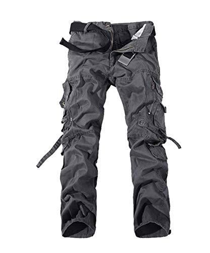 Jogging Sportivi Skinny Casual Primavera Uomo Pantaloni Da Huixin Tasche Lavoro Cargo Molte Autunno Grau Larghi npAZwawq
