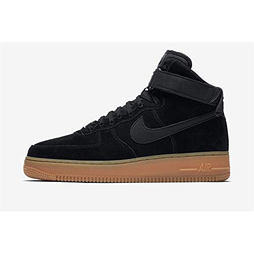 Nike Men's Air Force 1 High '07 Lv8 Suede Basketball Shoe 9.5 Black (Air Force 1 Black Suede Gum Low)