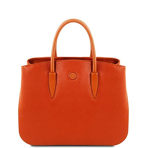 Tuscany Leather Camelia Leather Handbag - TL141728 (Brandy)