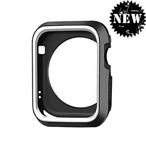 (DECVO for Apple Watch Case, Shock-proof and Shatter-resistant Protective Case Defense Edge Premium Aluminum & TPU Bumper Frame for Apple Watch Series 3/Series 2/Series 1 and Edition 42mm M/L (Gray))