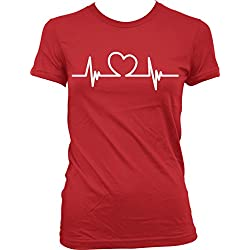 Love My Nurse, Happy Valentine's Day, Love Juniors T-shirt, NOFO Clothing Co. L Red