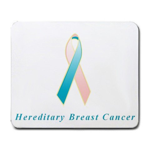 - Hereditary Breast Cancer Awareness Ribbon Mouse Pad