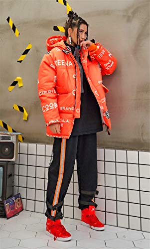 Girl 527202 Trendy Thick Hood gzco Puffer Jp Zipper Snap Coat Pocket Big Hiphop aB6wqCxdB
