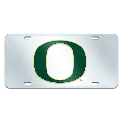 FANMATS NCAA University of Oregon Ducks Plastic License Plate (Inlaid)