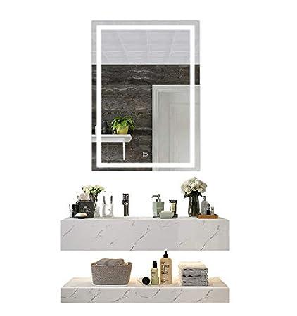 Amazon Com Diyhd W24 X H32 Wall Mount Led Lighted Bathroom Mirror