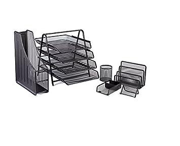 Halter 6 pieza acoplamiento sistema de oficina escritorio - 4 niveles bandeja del archivo/carpeta
