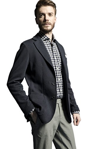 La Catenella Men's Suits Stylish Casual Tweed Navy Color Blazer Jacket