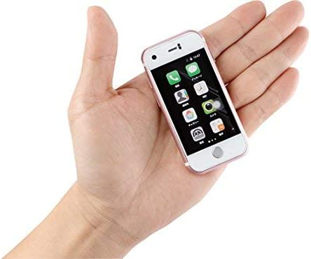 "Mini Smartphone Ilight 7S, World'S Smallest 7Plus Android Mobile Phone, Super Small Tiny Micro 2.4"" Touch Screen Global Unlocked Great For Kids. Child Gift. 1Gb Ram / 8Gb Rom. Tiny Iphone Look Alike"