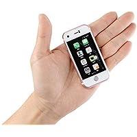 """Mini Smartphone iLight 7s, el más pequeño del mundo 7Plus Android teléfono celular, super pequeño pequeño pequeño pequeño Micro 2,4"""" visualización táctil global desbloqueado ideal para niños pequeño iPhone aspecto como"""