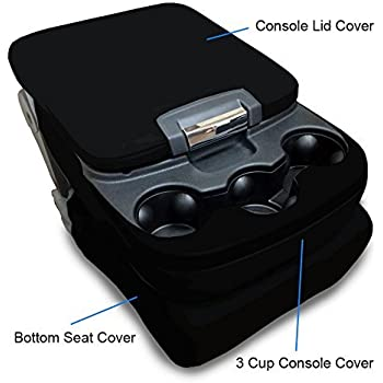 CarsCover Custom Fit 2013-2017 Dodge Ram 1500 2500 3500 Pickup Truck Black Neoprene Car Front Center Jump Seat Cover and Console Covers