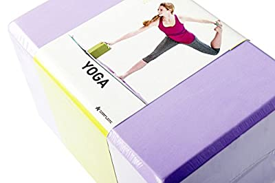 SIMPLORE 2pcs Yoga Blocks Sports Exercise Fitness EVA Eco-friendly Foam Pilates Bricks