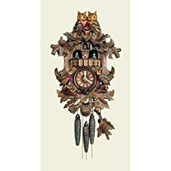 Original One Day Mechanical Movement Cuckoo Clock with Owl on Top 16 Inch