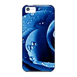 Iphone 5c Beatiful Rose Blue Print High Quality Frame Cases Covers