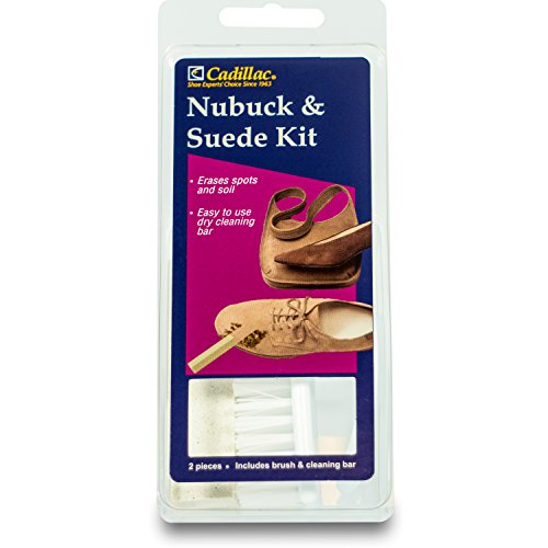Cadillac Nubuck & Suede Cleaner Kit - Brush and Eraser - Remove Stains & Clean Shoes Boots Bags Coats & - Suede Outback