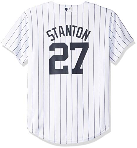 Giancarlo Stanton New York Yankees MLB Majestic Youth White Home Cool Base  Replica Jersey (Youth a97098d1458