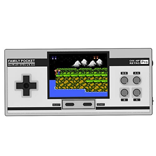 Basde Retro Handheld Classic Game Console, Mini Retro Handheld Game Console Portable Video Console Built-in 638 Classic FC Game Support 2 Player TV Output (White) by Basde (Image #8)