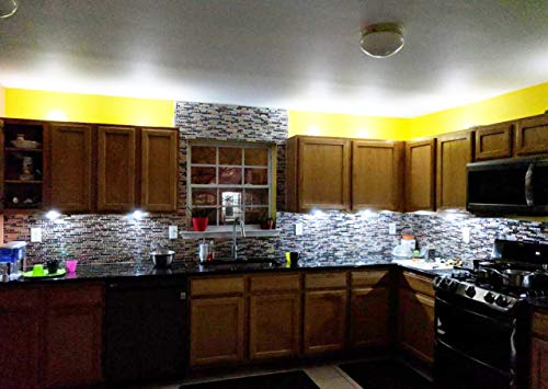 TST Mosaic Tiles Crystal Glass Tile Interlocking Black Brown Mosaic Bath Kitchen Fireplace Decor TSTGT107 (5 PCS [12'' X 12''/Each]) by TST MOSAIC TILES (Image #7)