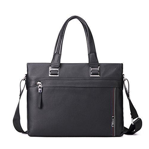 Leather Litigator Laptop Briefcase - 9