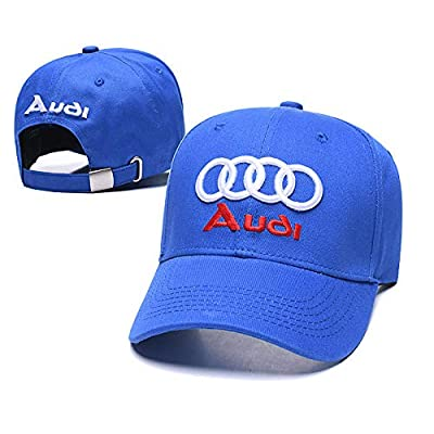 Wesport Embroidered Logo Solid Color Adjustable Baseball Caps for Men and Women Travel Cap Racing Motor Hat Fit Audi(Light Blue): Automotive