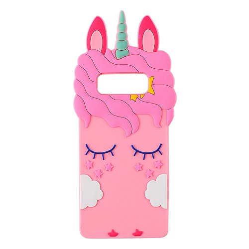 Joyleop Pink Unicorn Case for Samsung Galaxy Note 8,Cute 3D Cartoon Animal Cover,Fun Kids Girls Soft Silicone Rubber Kawaii Character Fashion Unique Shockproof Cases Protective Protector Samsung - 3d 3 Note Cartoon Case