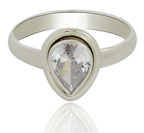 Banithani 925 bande anneau de pierre Topaze argent sterling femmes indiennes de bijoux de mode pour cadeau