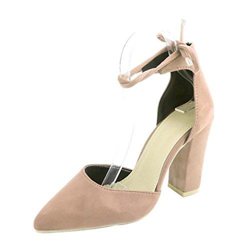 Omiky® Frauen Bow Sommer Sandalen Slipper Indoor Outdoor Flip-Flops Strand Schuhe Beige