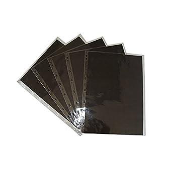 Royal & Langnickel - Funda de plástico para archivador (5 unidades, A2, taladrada