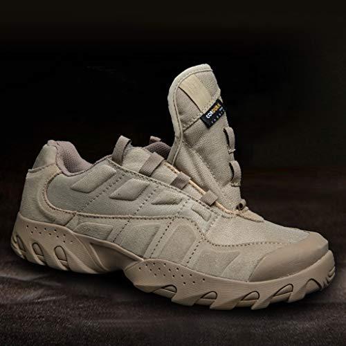 HJHHJHAB Bottes de l'armée Tactique Hommes Chaussures de Sport Basses imperméables Chaussures de randonnée en Plein air… 6