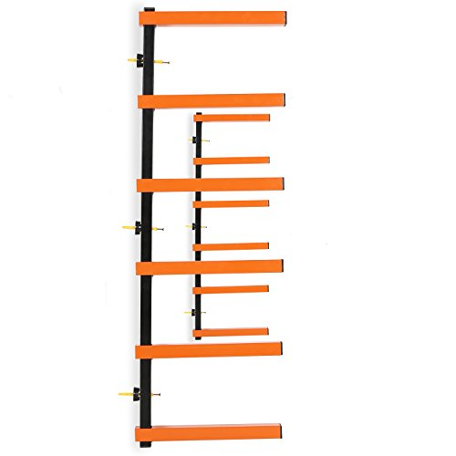 7BLACKSMITHS Six-Level 600 lb Capacity Lumber Storage Rack Wall-Mounted both Indoor and Outdoor Use Wood Organizer Rack by 7BLACKSMITHS (Image #1)