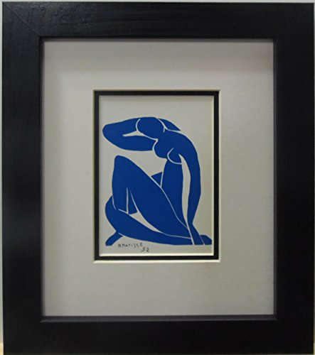 buyartforless IF MM503-DM10 10x8 1.25Black Plexi Framed Blue Nude by Henri Matisse 1952 Museum Master Fine Art (Henri Matisse Artwork)