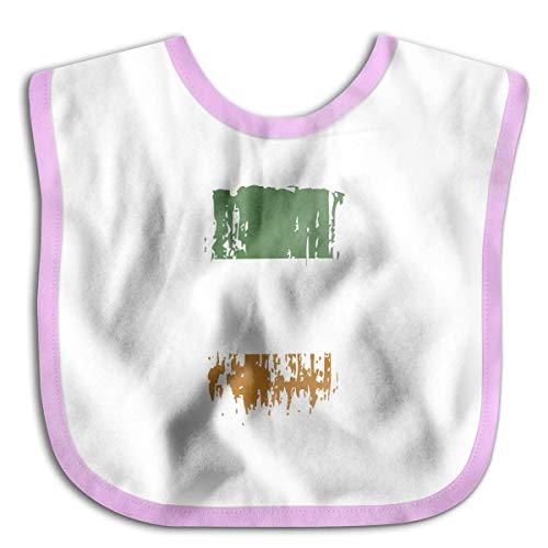 Popular Baby Bandana Drool Bibs, Unisex Burp Cloths for Drooling and Teething [IE IRL Ireland Flag Pink]
