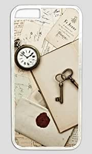 Antique Keys and Table DIY Hard Shell Transparent iphone 5 5s Case Perfect By Custom Service