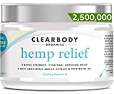 Hemp Pain Relief Cream- 2,500,000 Made in USA Lab