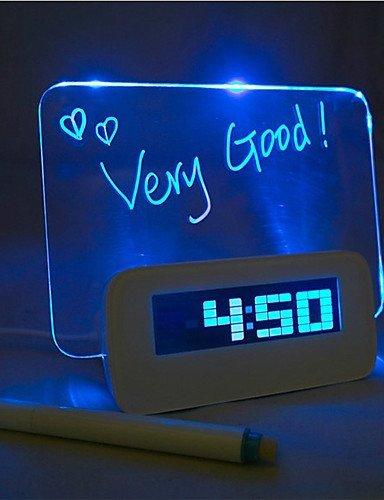 KUI Foro luz azul reloj despertador digital con 4 hub usb puerto (USB)