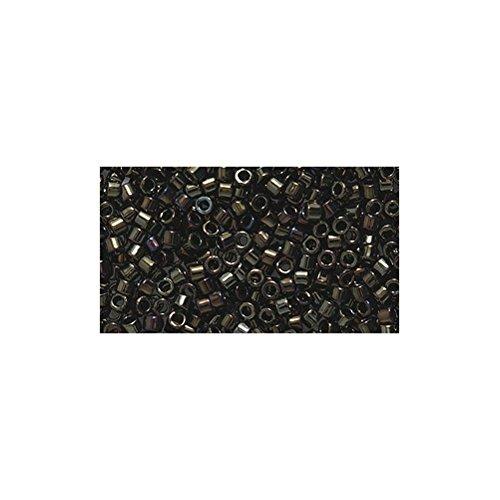 (Miyuki Delica Seed Bead 11/0 DB007, Metallic Brown Iris, 9-Gram/Pack)