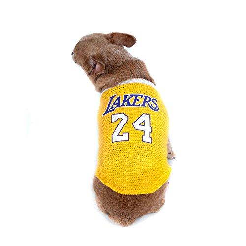 Lakers 24 Kobe Bryant Dog Clothes NBA Basketball Jersey Pet ...