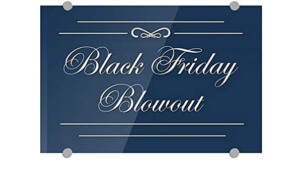 CGSignLab 2467560/_5absw/_27x18/_None Classic Navy Premium Acrylic Sign Black Friday Blowout 27x18