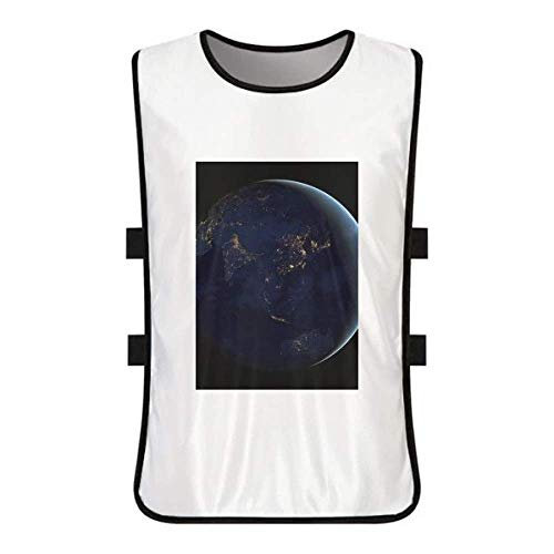 Universe Space Blue Planet Earth White Training Vest Jerseys Shirt Cloth