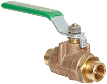 Milwaukee Valve BB2-350 Series Bronze Butterfly Valve, Unibody, Stainless Steel 304 Disc, Lever Handle, Solder End
