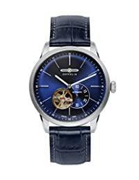 Graf Zeppelin Flatline Automatic Open-Heart Watch with Small Seconds 7364-3