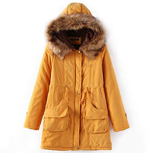 Parkas Female Women Winter Hooded Coat Thickening Cotton Jacket Womens Warm Wint