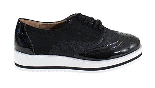 Bi Black Derbies Shoes Femme Chaussure Style By Matière wgIBFWq
