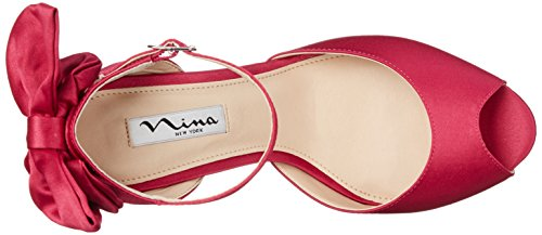 Nina Womens Mileena Peep Toe Pump Bacca